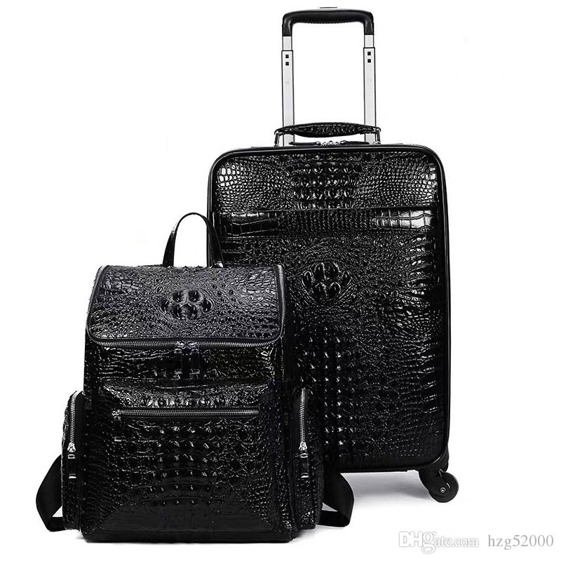 suitcase carry onTravel Leather Rolling Luggage Leather Travel Bags Hand Luggage2020Shipping OFF black brwon 1 1s mens basketball shoes thre