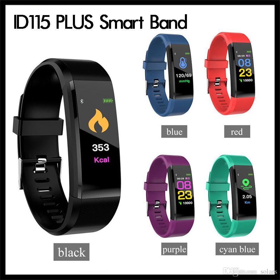 ID115 plus intelligent Bracelet Fitness Tracker Montre intelligent de fréquence cardiaque intelligent bande pour Bracelet en d'Apple Android Cellphones avec Retail Box