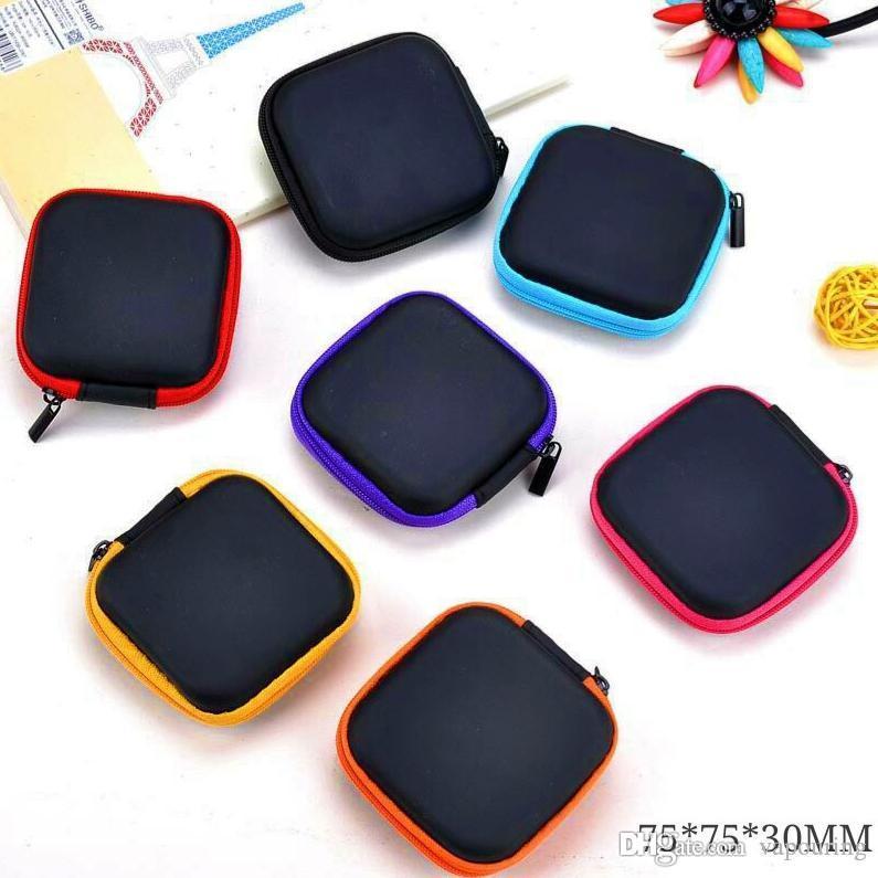 Mais novo colorido Embalagem Box loja Storage Bag Zipper Conveniente portátil quadrado para Vape vaporizador Tanque RDA atomizador bateria Usos Múltiplos