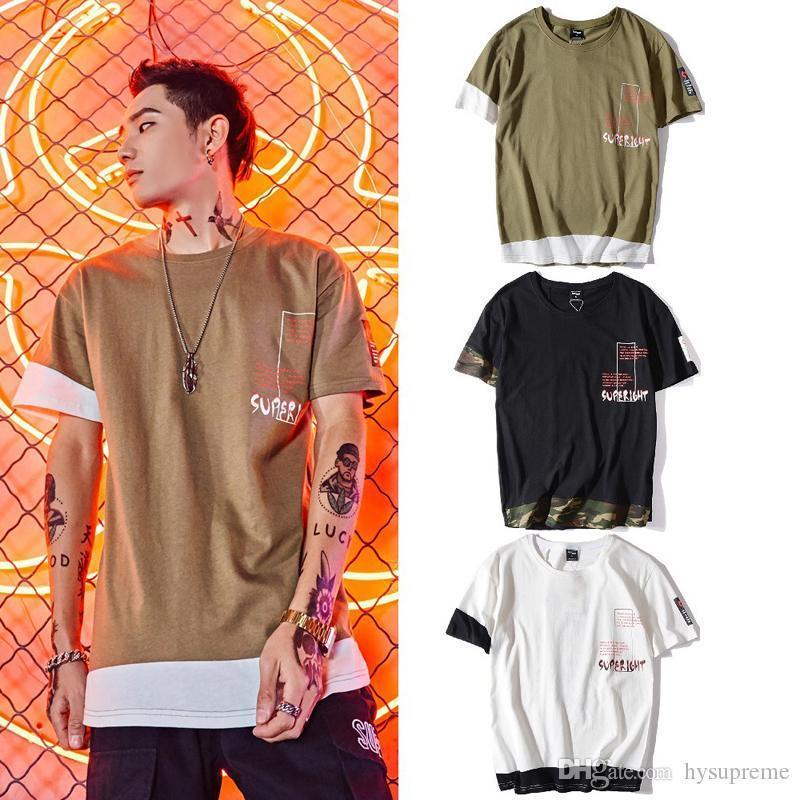 Sommer-neue europäische amerikanische High Street Liebhaber Persönlichkeit Letters Druck lose T-Shirts Männer Frauen Kurzarm-T-Shirts