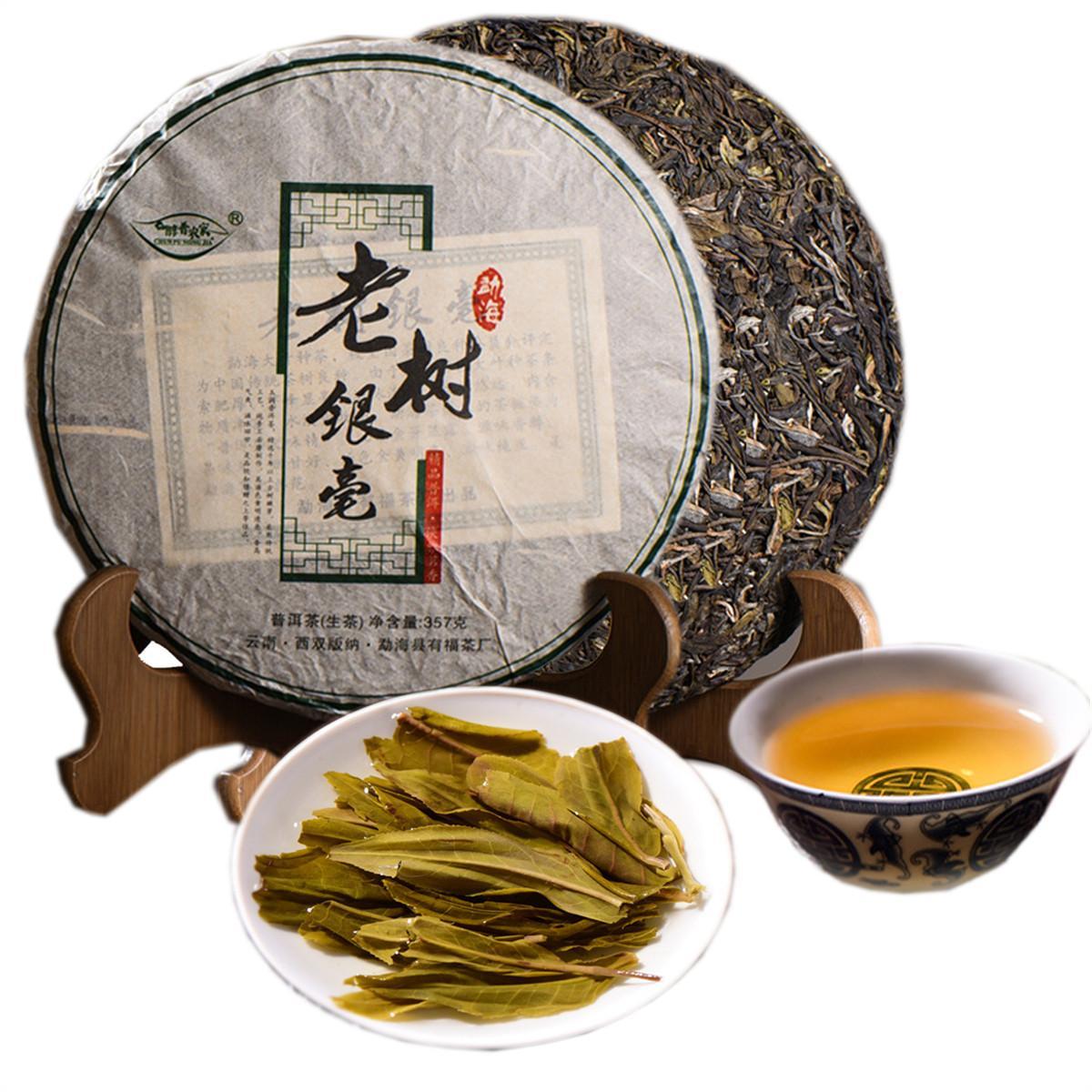 Sıcak Yunnan Erken Bahar Sheng Pu-erh Çay Kek Alp Ekolojik Yaşlı Ağaç Saf Malzeme Pu'er Ham Çay 357g
