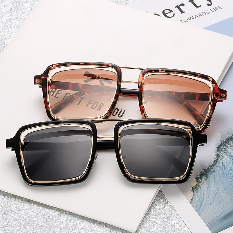 Hot Oversized Square Sunglasses Men Women 2018 Brand Designer Gradient Shades Sun Glasses For Male Female punk sunglasses FML