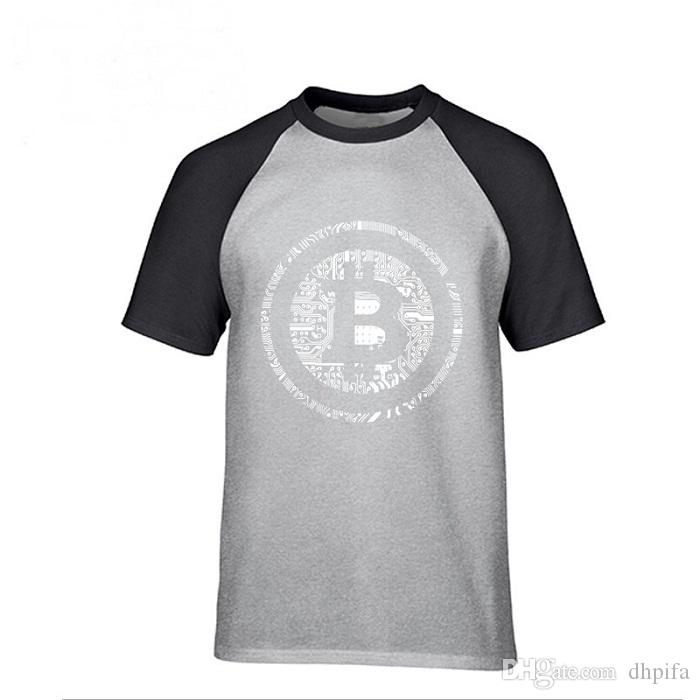 Men T Shirts Bitcoin Cryptocurrency Cyber Currency Financial Revolution T-Shirt Plain Youth Round Collar short sleeves Tee Shirt Polos
