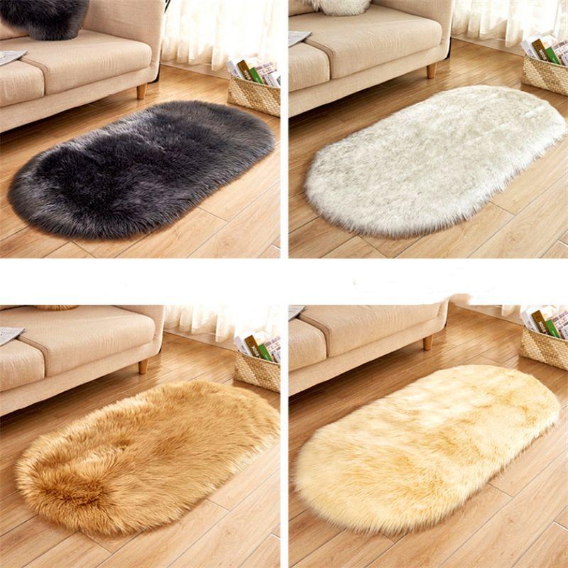 Rugs Artificial Wool Carpet Fur Plain Fluffy Rug Soft Living Carpet Bedroom Floor Mat 40 60cm Room Decor Commercial Carpet Tile Carpeting Costs From Changjintextile 7 84 Dhgate Com