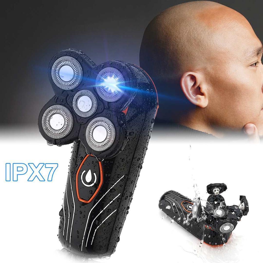 Bıçak Tıraş Makinesi Erkekler Sakal Giyotin Kel Kafa Jilet Yıkanabilir Su geçirmez Şarjlı Saç Clipper Yüzer Elektrikli tıraş makinesi 5 Başkanları