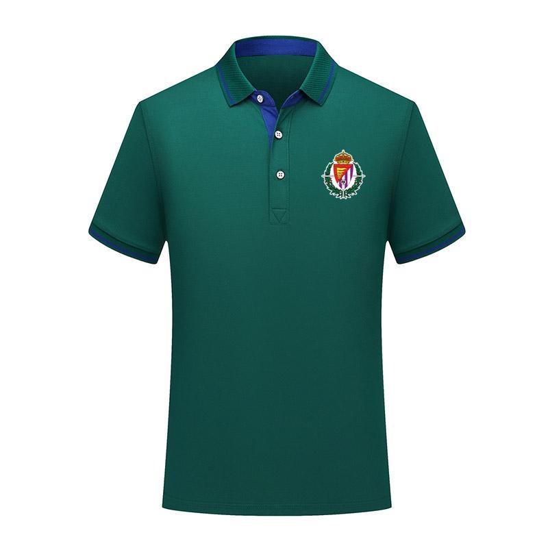 versión tailandesa de calidad camiseta del Real Valladolid manera del algodón del polo de los hombres de verano de fútbol de manga corta camisa de entrenamiento de fútbol de los hombres de la solapa polo polo j