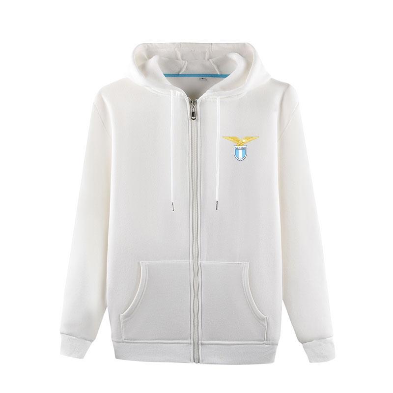 SS Lazio 2020 Autumn Fussball Sportbekleidung Pullover Männer Fußball Outdoor Wear Jogging Warme Kleidung Lässige Herbst Jacke