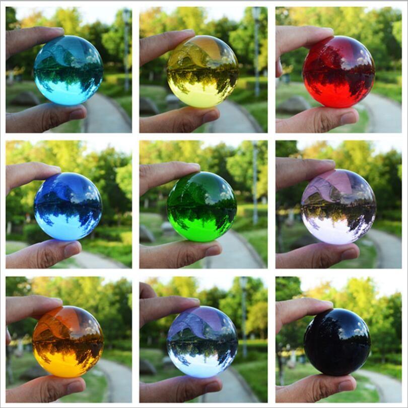 40MM متعددة الألوان كريستال الكرة الآسيوية النادرة سحر الطبيعية الخرز شفاء المجال غلوب الكوارتز التصوير كرات كريستال كرافت ديكور