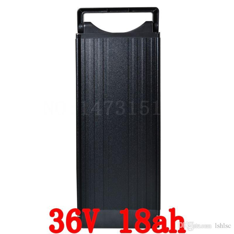 Venda quente 500 W rack Traseiro 36 v 18ah Bateria de Ligue E Bicicleta Pack de bateria 36 v Com 42 v 2a Carregador, bms Da Bateria Da Bicic