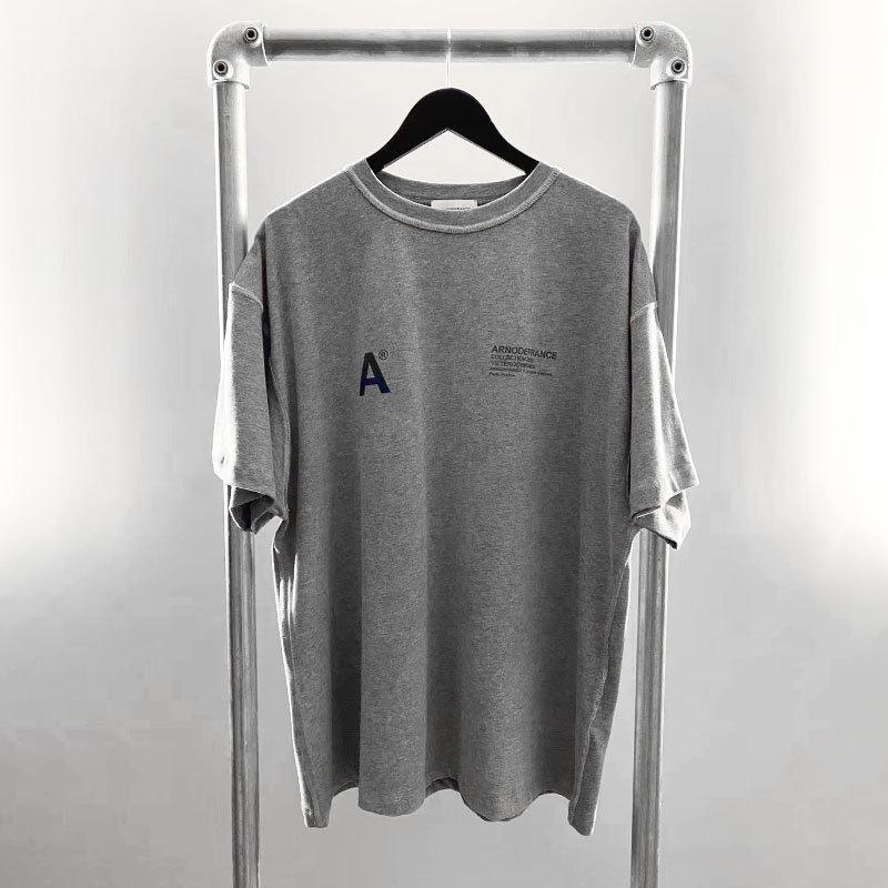 Arnodefrance 20SS Bırak 2 Senfoni 3M Yansıtıcı Erkekler Tasarımcı T Gömlek Baskı Gevşek High Street Tide Marka Bayan SİS Avrupa ve Amerika