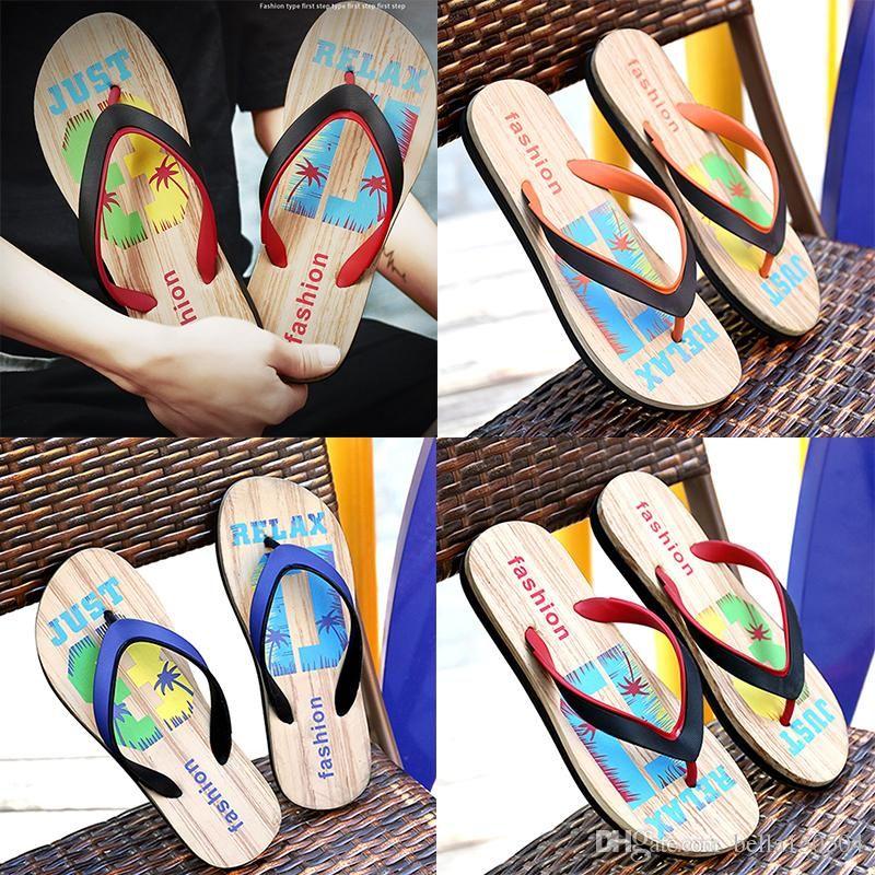 trend Designer Rubber Non-slip sandals slippers for men Hot Designer flower printed beach flip flops slipper summer Hawaii Beach slippers