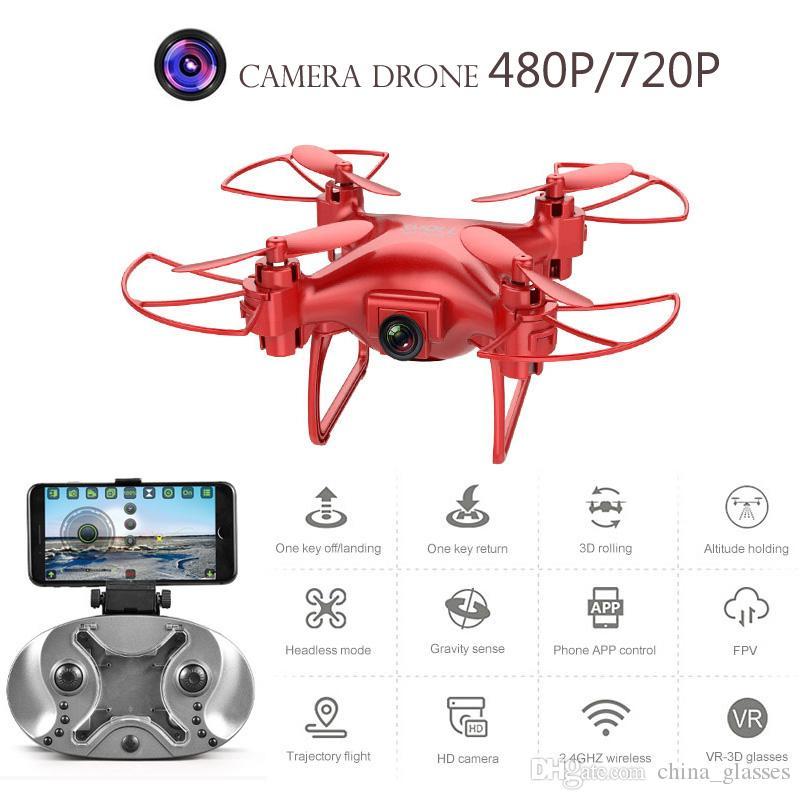 كاميرا بدون طيار بدون طيار L26 480P 720P طائرة أربعة محور HD WiFi Aerial التحكم عن بعد طائرات