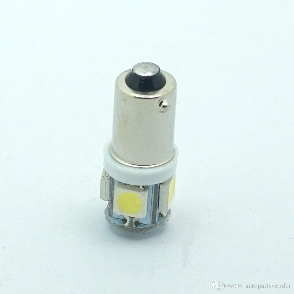 10 adet / grup T11 BA9S 5050 5-SMD LED Beyaz / Sıcak Beyaz Ampul Araba Işık Kaynağı Araba 12 V Lamba T4W 3886X H6W 363 Yüksek Kalite