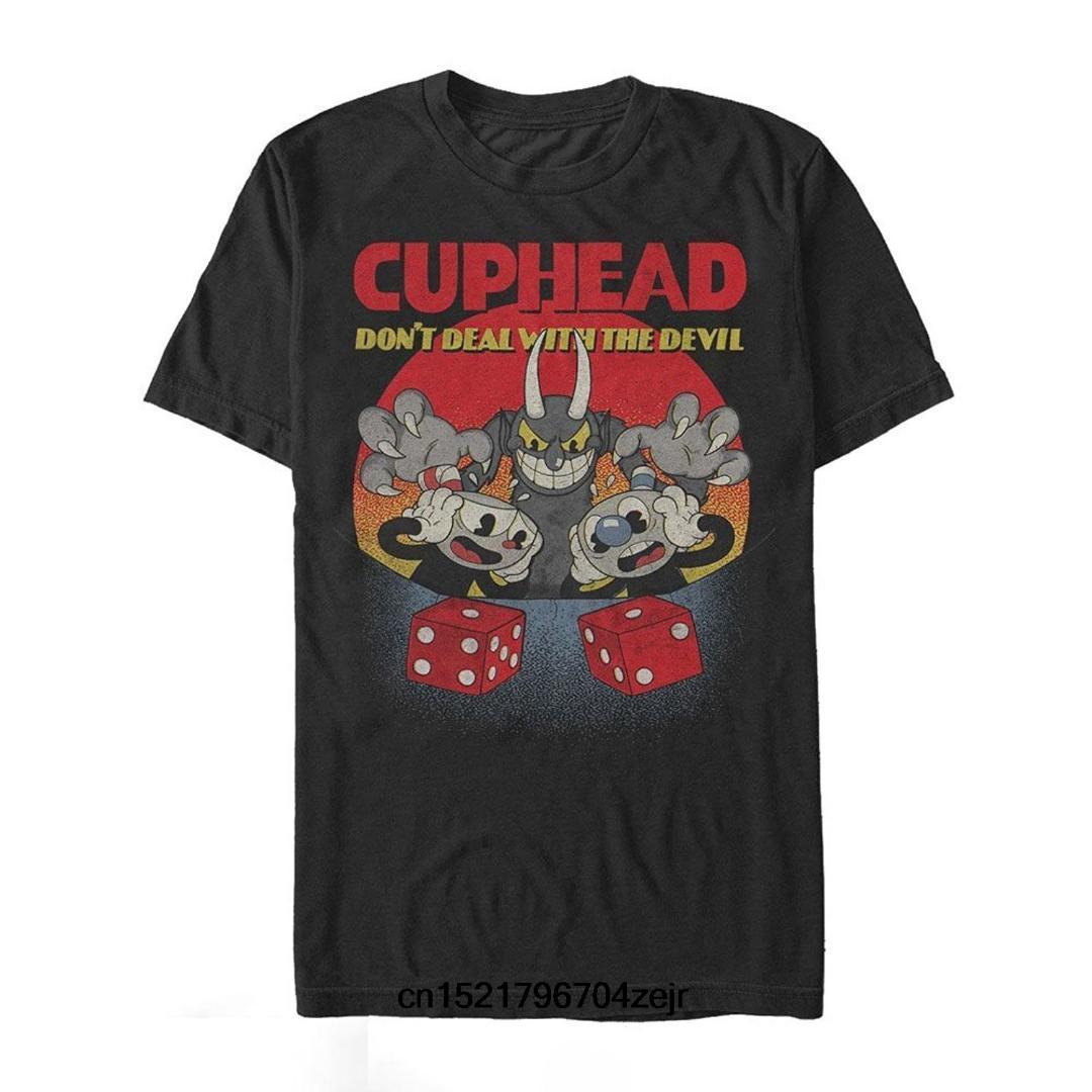 Maglietta da uomo Cuphead Do not Deal Maglietta da uomo Graphic T Shirt divertente t-shirt novità tshirt da donna