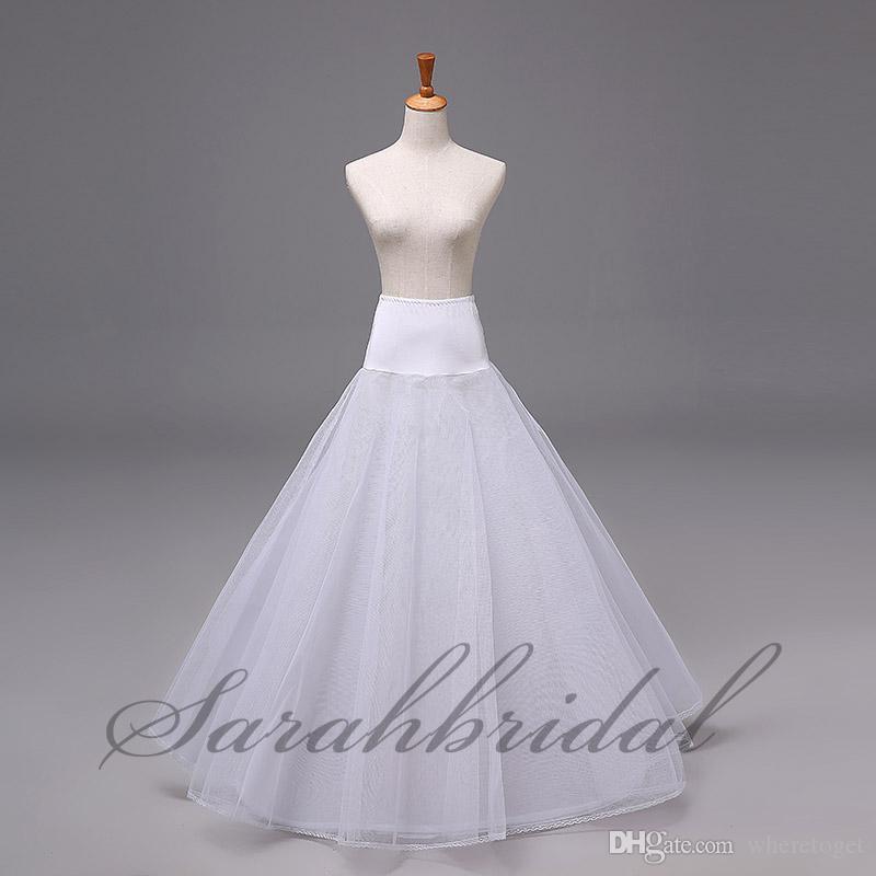 Tamaño accesorios de novia Enaguas En archivo libre de bola de los vestidos Ropa formal alforjas enagua de la boda vestido de bola nuevo estilo 12005