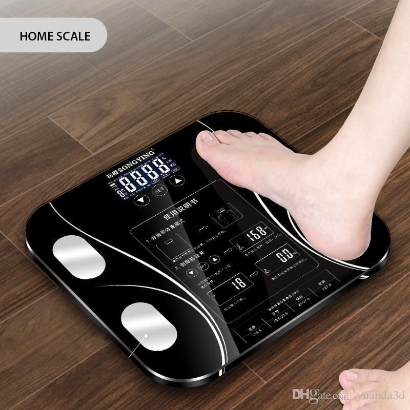 Weight Scale Body Fat Electronic Scales Floor BMI Digital Scale Water Mass Health Precision Smart Weighing Scales