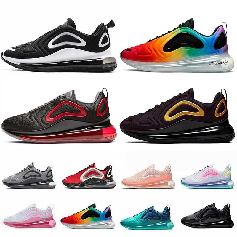 Nike Air Max 720 الاحذية للرجال إمرأة ولدت الكهربائية الخضراء الثلاثي الأبيض السرية × أسود البحر غابة يكون صحيحا رجل مدرب الرياضة أحذية رياضية