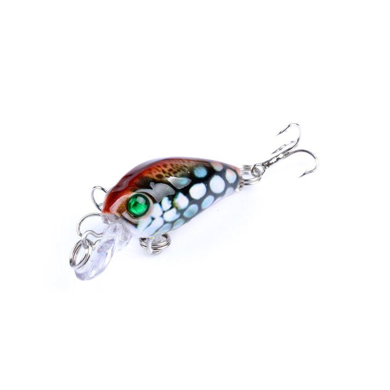 1pcs Mini Japan 4.5cm 4g Multi Swim Bass Fishing Lures Artificial Hard Crank Bait Fishing Crankbait Lure