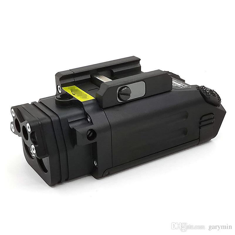 DBAL-PL Tactical IR Laser Light Combo Strobe Light LED Gun Tac Flashlight With Red Laser NV Illuminator