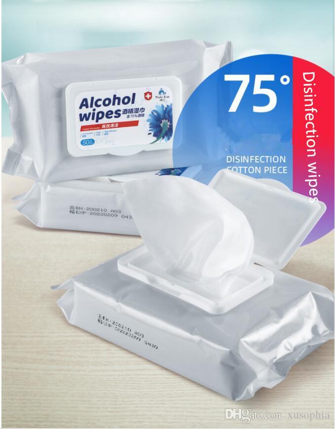 75% di alcol Salviette 200 150 millimetri * per 50 pezzi per un pacchetto del 75% Disinfezione Salviette
