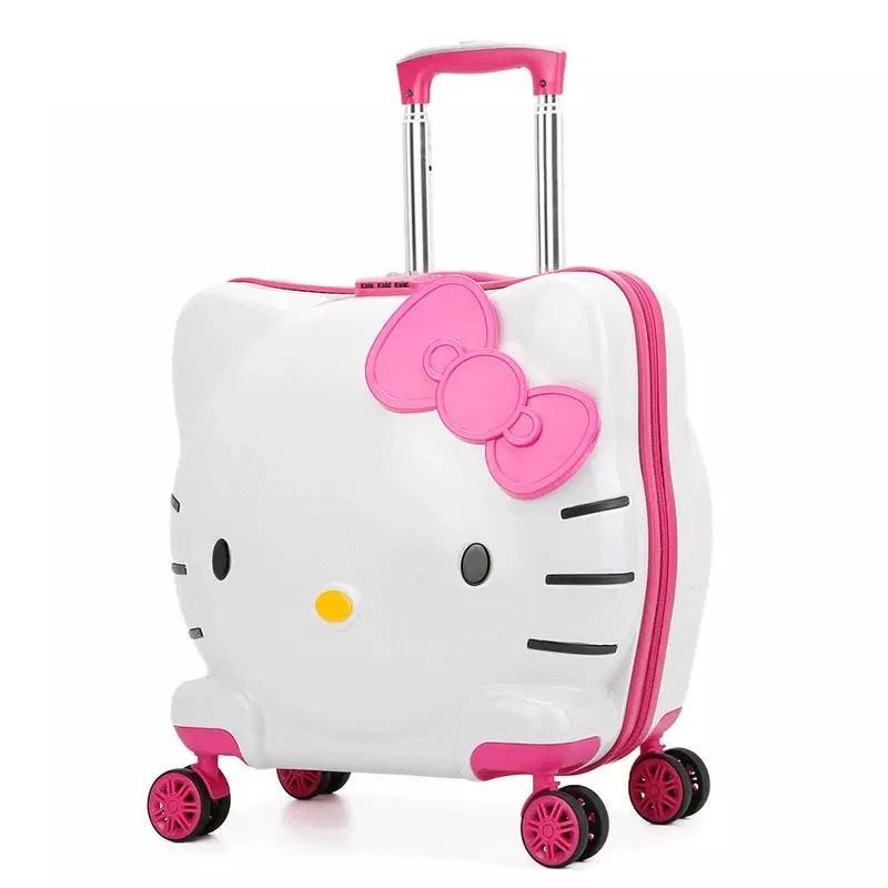 Lcslj New Childrens Travel Trolley case Universal Wheel Boarding Luggage Bag 17 inch Color : Pink