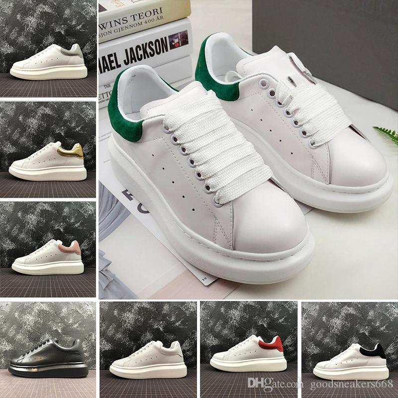 2020 Повседневная обувь Обувь мужская женщин Платформа кроссовки красный белый черный Уличная мода любителей моды обувь из натуральной кожи тренер
