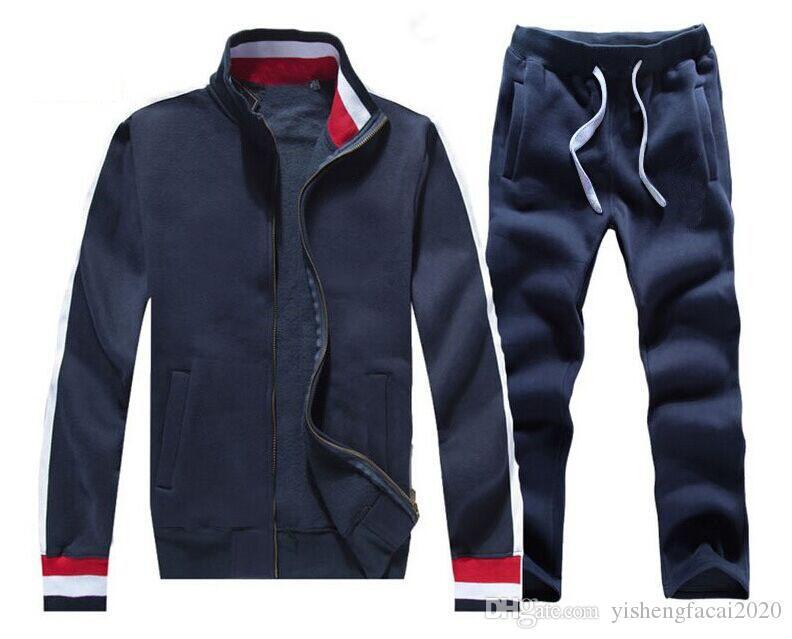 Outono homens full full tracksuit homens esporte terno branco barato homens com moletom e calça moletom com capuz e calça ajustaram homens