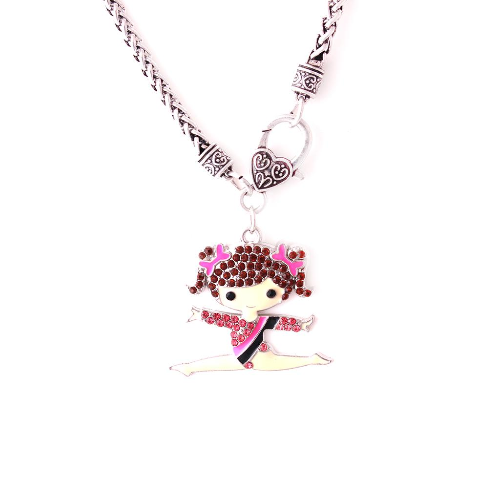 Wholesale Huilin Wholesale Multicolor Coarse Link Chain Black Necklaces And Cute Gymnastics Girl Necklace With Jewelry For Girlfriend For Gift Personalized Pendant Necklace Coin Pendant Necklace From John687912 17 09 Dhgate Com
