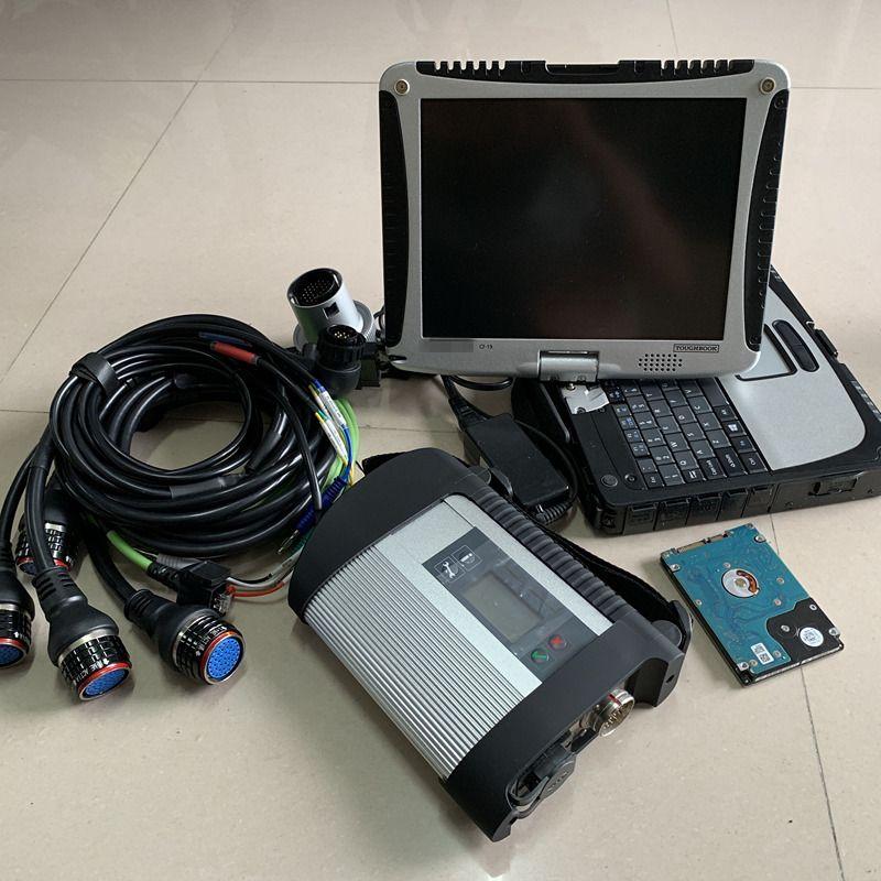 Strumento di diagnosi STAR MB C4 con software HDD 320GB ToubleBook CF-19 Touch Screen Laptop Pronto per uso