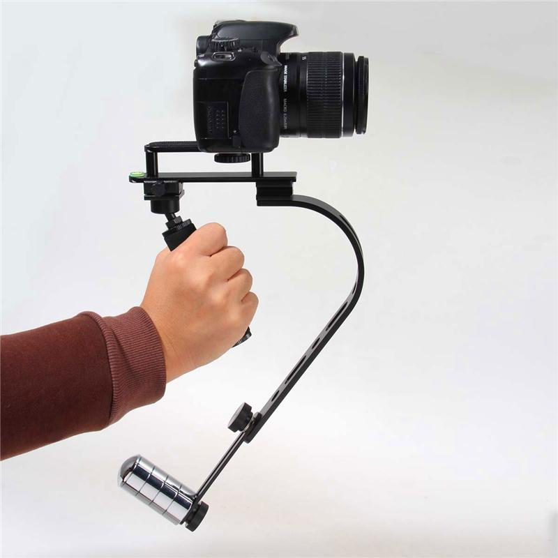 Freeshipping Cheap Alloy Steadycam Steadicam Digital Camera Camcorder Stabilizer Steadicam Stabilisers For DSLR