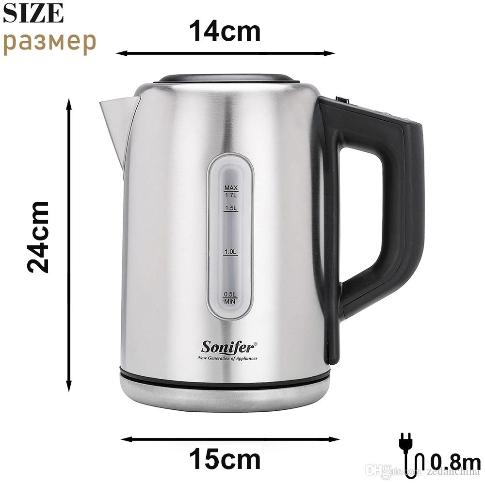 CKV-27 1.7L Visual Electric Kettle Adjustable temperature 2200W Household Quick Heating Electric Boiling Pot Sonifer