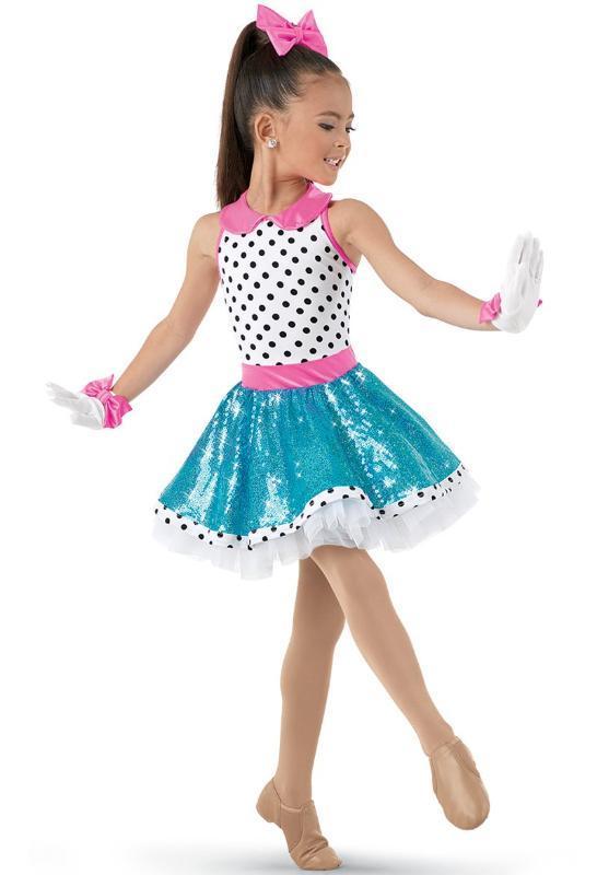 Bühnenabnutzung Weiß Lebendiger Polka Dot Für irgendein Leistung Ballettkleid Kinder Mädchen Professionelle Tutus Frauen Kostüme
