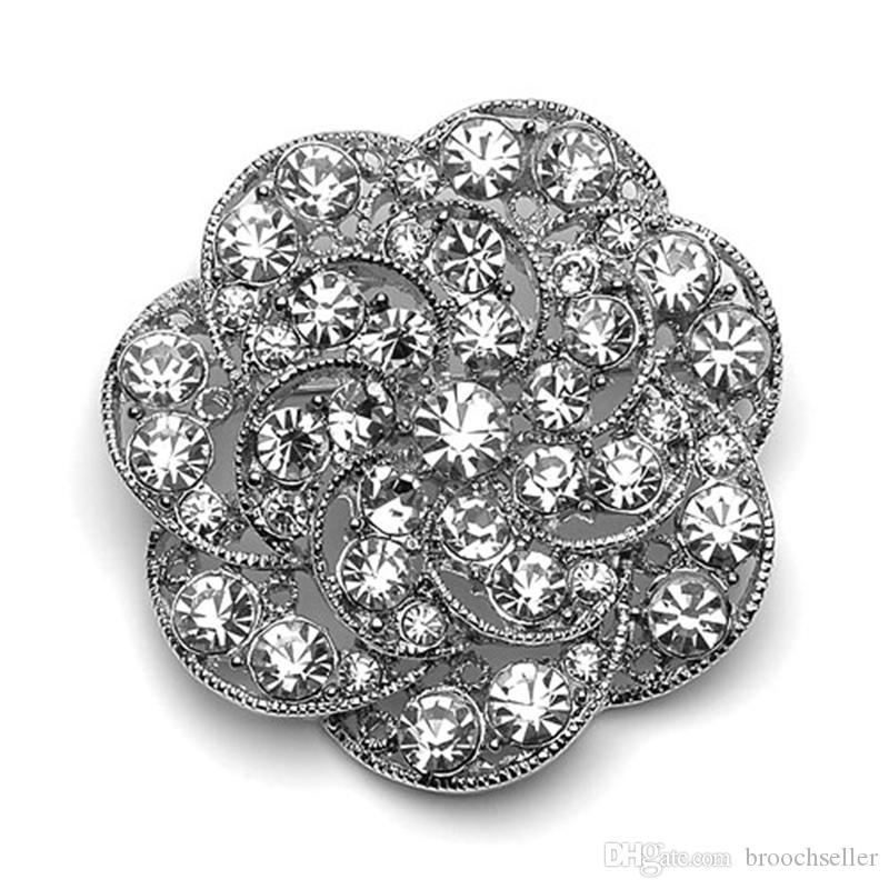 Broche de la boda de la vendimia de dama de honor de accesorios de tono de plata rodio corsé Pins de calidad superior envío gratis venta al por mayor