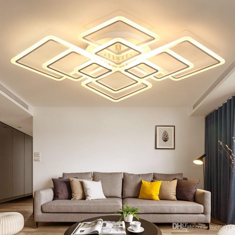 Acrylic Modern Led Ceiling Lights Dimmable Living Room Bedroom Kitchen Surface Mount Home Decoration Plafondlamp Lighting Ac 100 240v Blown Glass