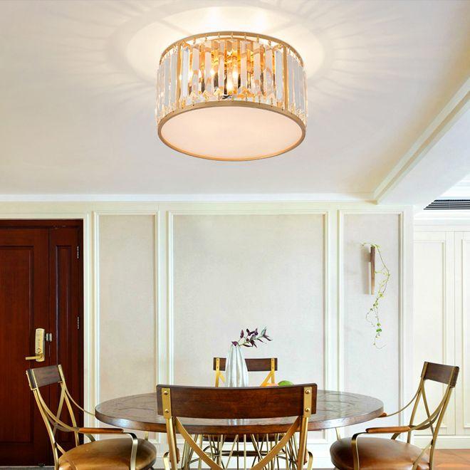 lampadari di cristallo moderni cristallo rotondo lampadario luce luci del soffitto d'oro illuminazione LED Lampada da soffitto per la camera da letto di studio