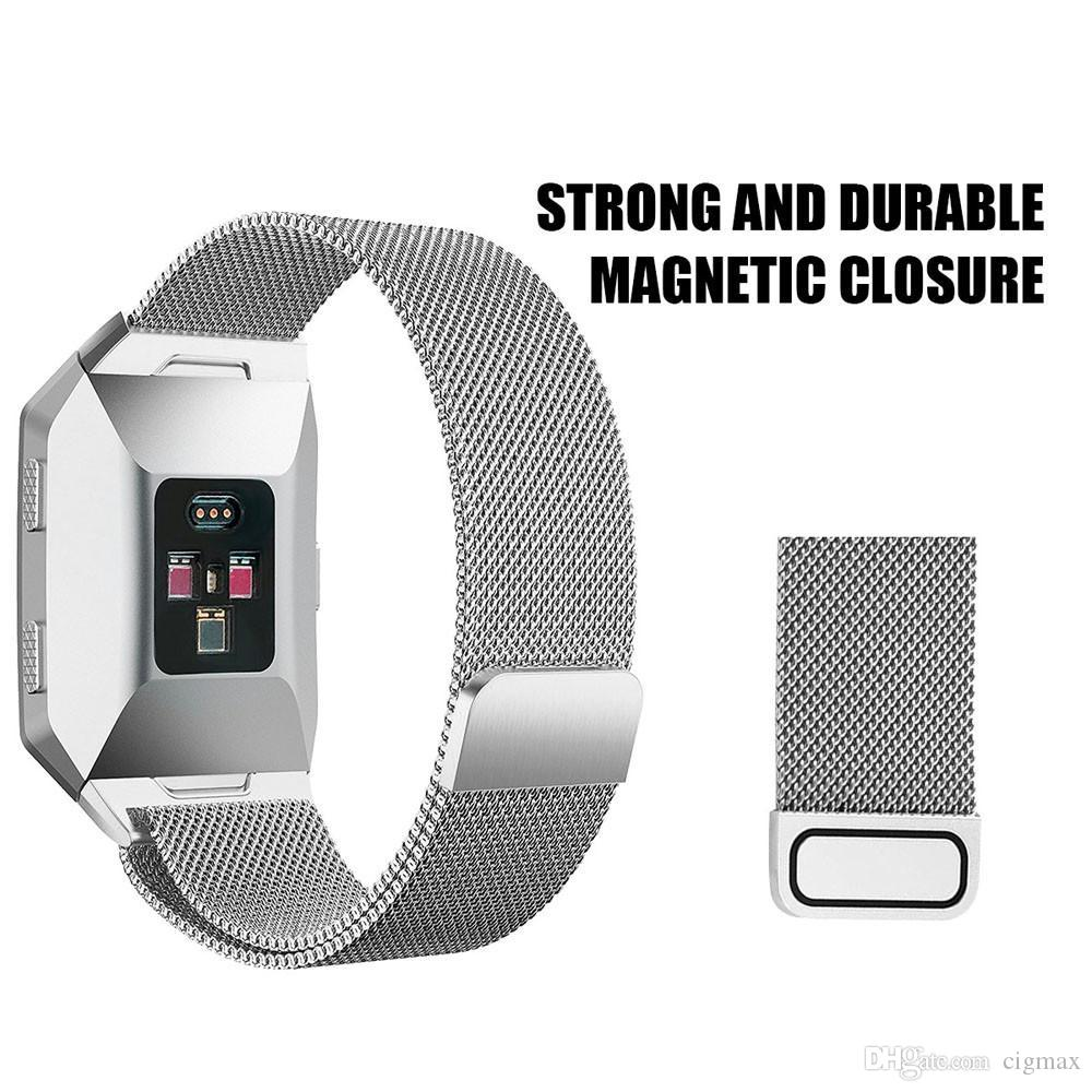 Large Replacement Milanese Stainless Steel Watch Band Strap For Fitbit Ionic