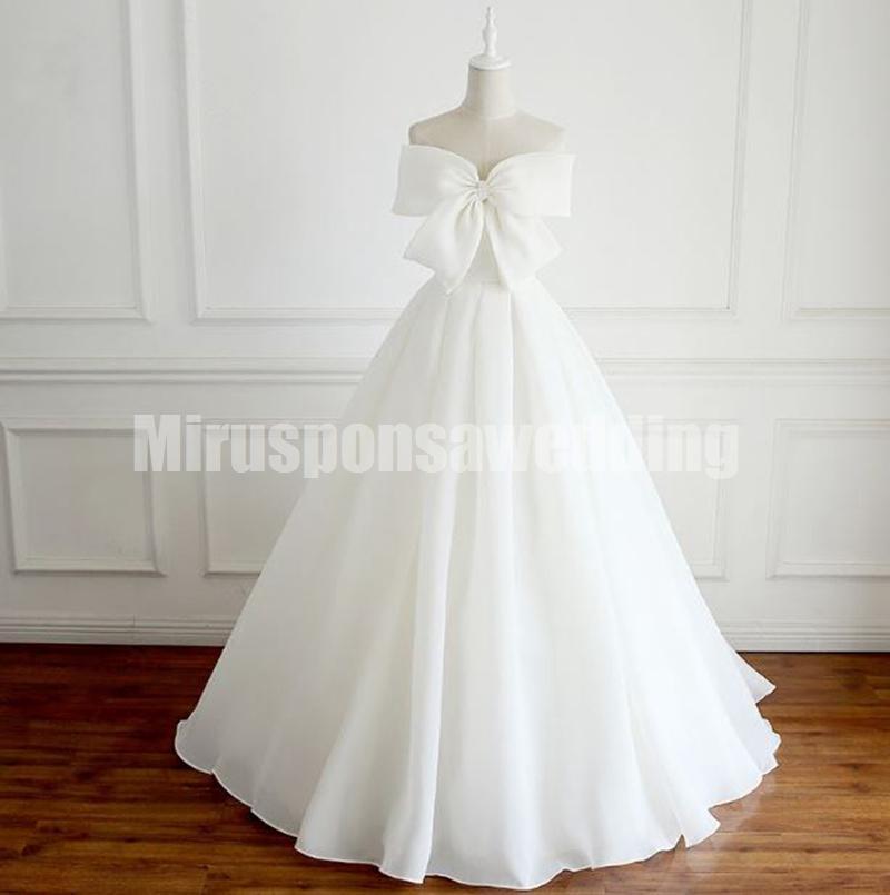 Elegante sem alças suave cetim de maternidade casamento Vestidos A-Line Império cintura Vestidos Simples Com grande da curva até o chão vestidos de noiva