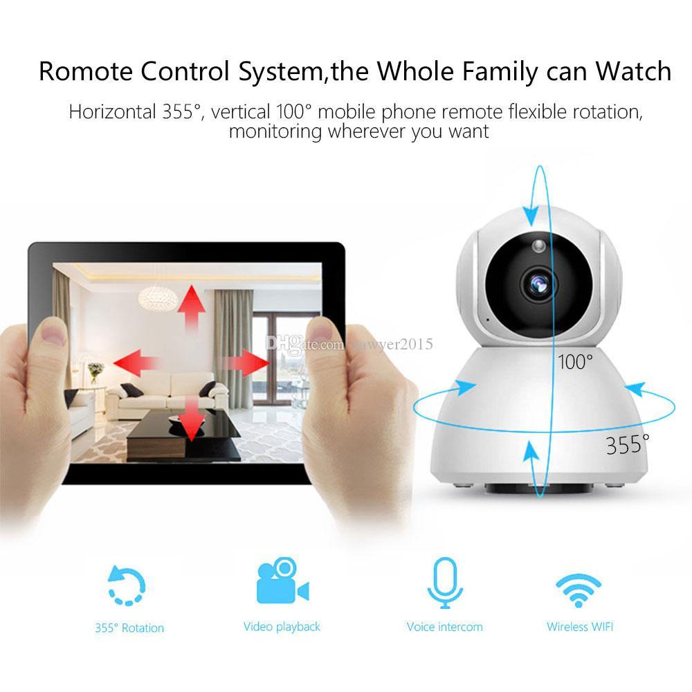 V380 1080P WiFi Wireless IP Camera HD Home Security Ptz Auto Tracking Camera IR Night Vision CCTV Surveillance video camcorder Baby Monitor