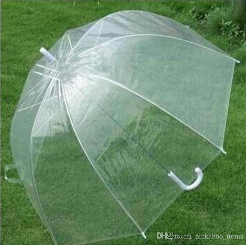 Transparent Bubble Deep Dome Umbrella Cute Gossip Girl Windproof Umbrellas Clear Princess Mushroom Umbrella Wedding Party Decor 2019 A42302