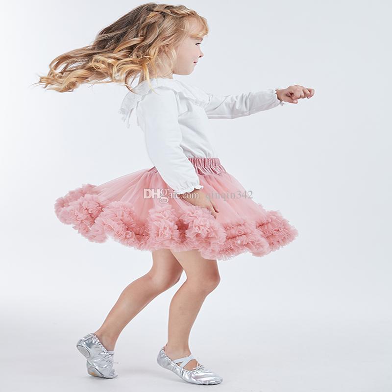 DHL Kids girl Tutu Skirts Fashion children tulle Pettiskirt toddler pink tutu Dance Skirt Party performance clothes Spring
