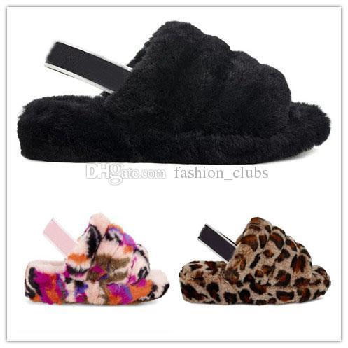 2020 Nova Austrália WGG Inverno Botas W Fluff Sim Motlee Leopard slides Shoes Mulheres Lady menina Seashell carvão Lantana multi neve Shipp gratuito