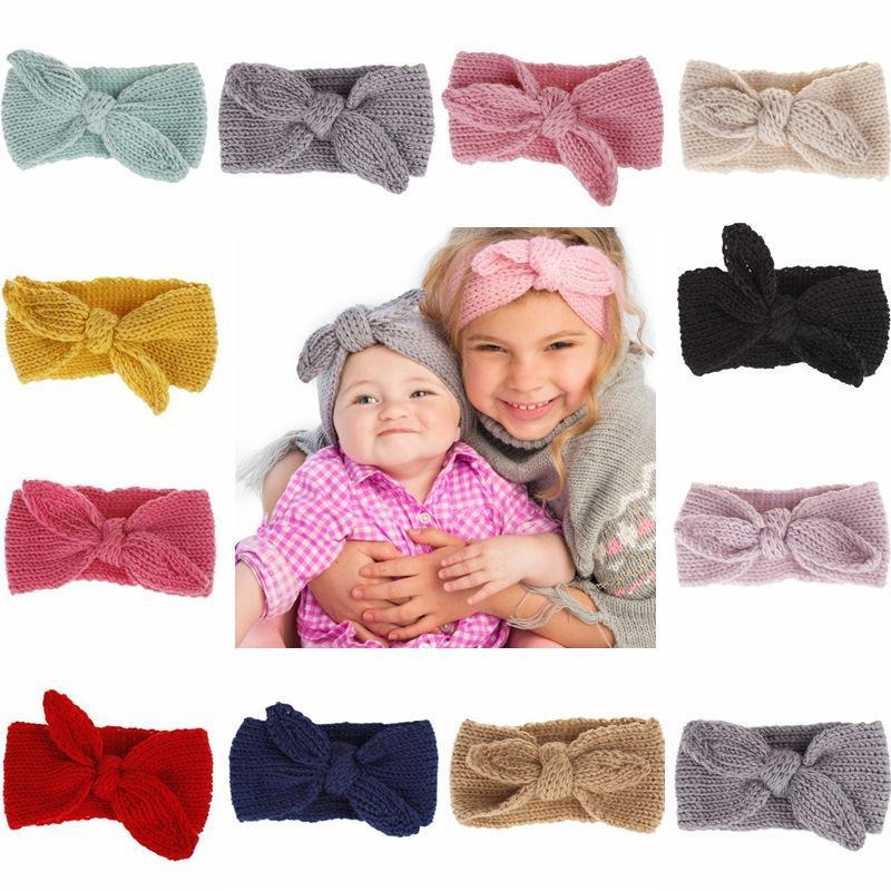 5x Knitted Headband Baby Crochet Winter Warm Hairband Cute Hair Band Headwrap