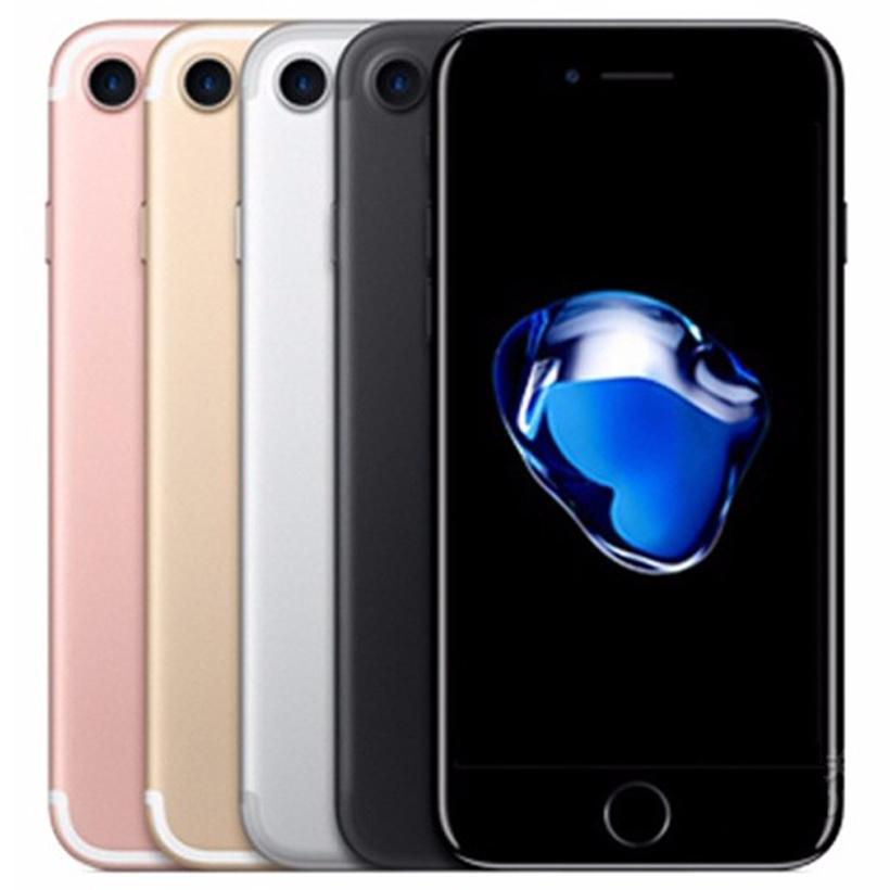 Refurbished Original Apple iPhone 7 4.7 inch Fingerprint iOS A10 Quad Core 2GB RAM 32/128/256GB ROM 12MP Unlocked 4G LTE Phone Free DHL 5pcs