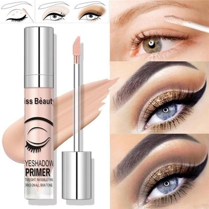 Поцелуй красоты глаз Праймер глаз Базовый крем 8ml долговечны веко Грунтовка жидкая основа Eyeshadow Base Грунтовка макияж 6шт