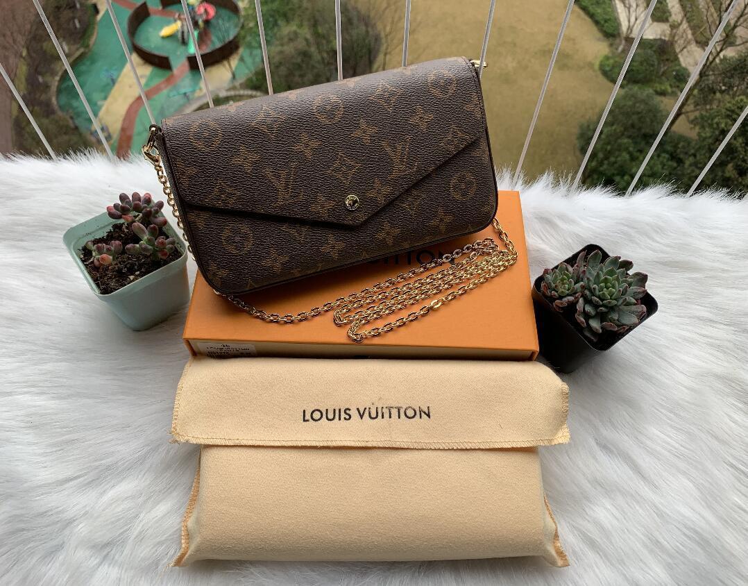 Bolsos de hombro del diseñador de alta calidad de cuero bolsos de diseño más vendido cartera mujeres empaqueta el bolso de Crossbody de lujo bolsos hobo con la caja A13