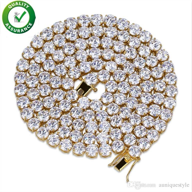 Iced Out Chains Hip Hop Jewelry Luxury Designer Necklace Diamond Cuban Link Tennis Chain Micro Paved Bling CZ Men Women Wedding Accessories
