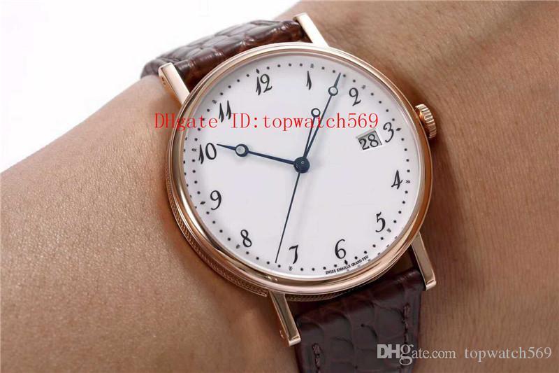 Top CLASSIQU 5177BR reloj para hombre ultra delgado reloj mecánico automático Cal.777Q Sapphire CNC talla correa de piel de cocodrilo de oro rosa