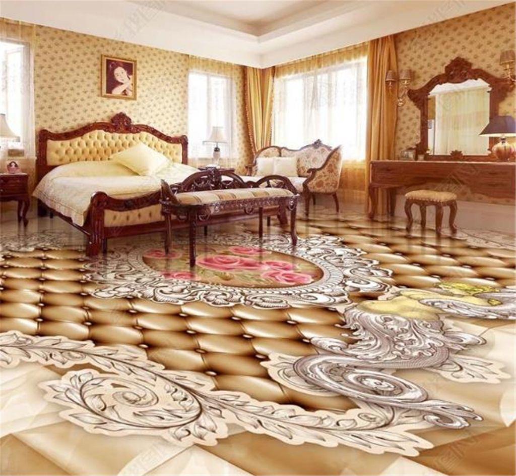 Premium HD Europäischen Muster Engel Rose 3D Boden Tapete HD Landschaft Tapeten Superior Innendekorationen Tapete