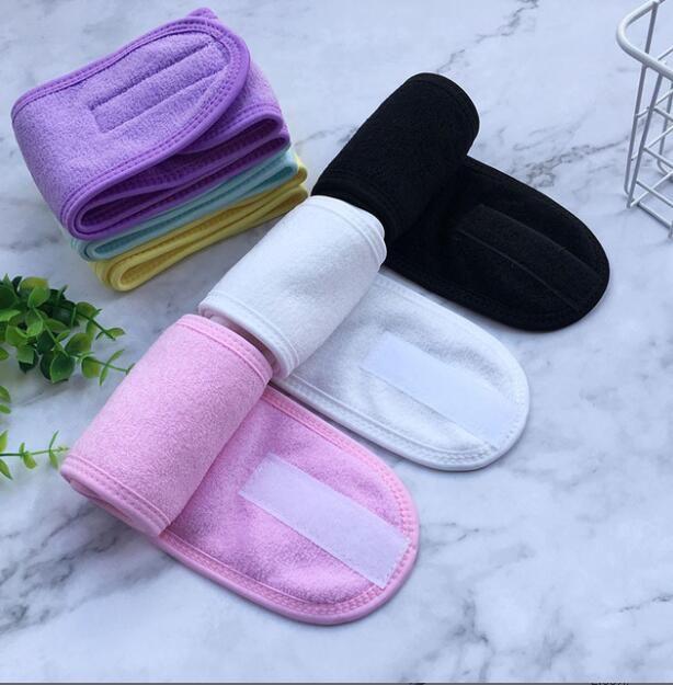 Spa Bad Dusche Wash Gesicht elastischen Haar-Bänder Frauen-Sport-Yoga Kopftuch Damen Kosmetik Stoff Handtuch Make Up Tiara-Stirnband GGA3495-1