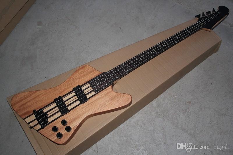 Free Shipping Thunderbird Classic IV burlywood Electric Bass guitar Custom one-piece set neck 4 Strings Bass Guitar